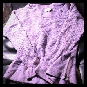 Purple loft sweater